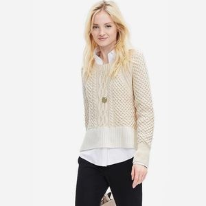 Banana Republic Cable Knit Cropped Sweater
